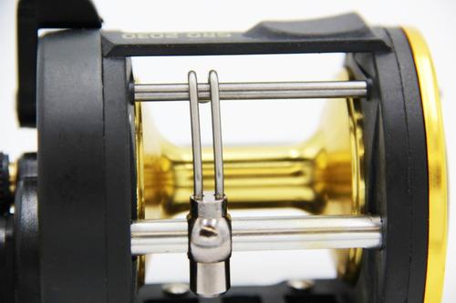 reel rotativo para mar 3 rulemanes cuerpo metalico bronce