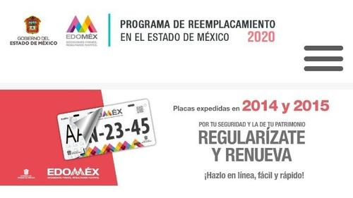 reemplacamiento edomex 2020