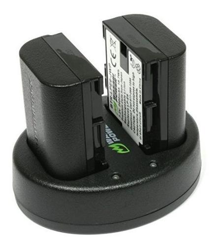 reemplazo canon lp-e6, lp-e6n de wasabi power (cargador dobl