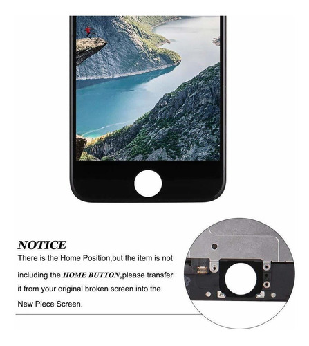 reemplazo de pantalla compatible con iphone 6 plus completa