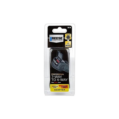 reese towpower 78116 7-way blade to 4-way flat adapter con l
