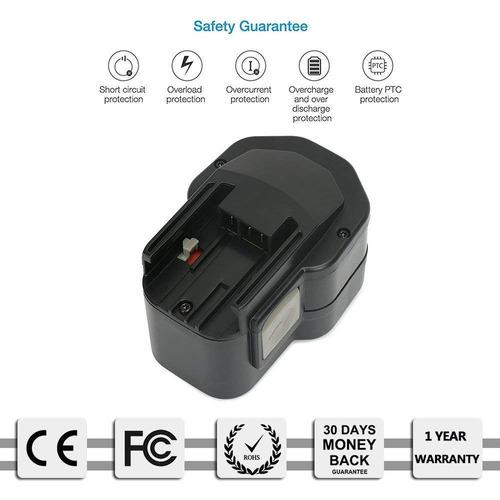 reexbon reemplazo 12v milwaukee batería para milwaukee 48-1