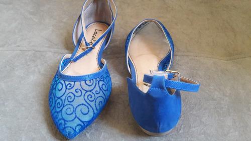 ref: 046 - sapatilha em tecido semi transparente e fecho