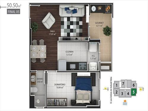 ref.: 1021011004 - apartamento em praia grande, no bairro boqueirao - 1 dormitórios