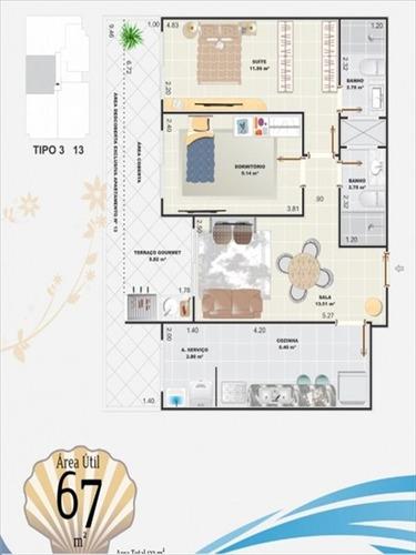 ref.: 1021011804 - apartamento em praia grande, no bairro aviacao - 2 dormitórios