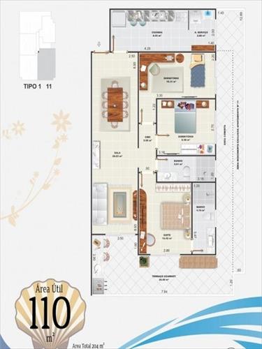 ref.: 1021011904 - apartamento em praia grande, no bairro aviacao - 3 dormitórios