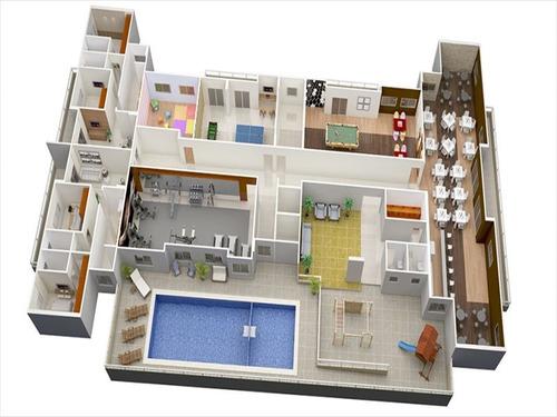 ref.: 102354101 - apartamento em praia grande, no bairro aviacao - 2 dormitórios