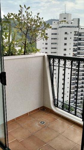 ref.: 1052 - apartamento em guarujá, no bairro pitangueiras