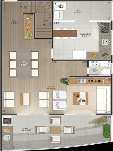 ref.: 11001 - apartamento em praia grande, no bairro vila tupi - 1 dormitórios
