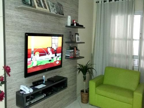 ref.: 1128 - casa em praia grande, no bairro guilhermina - 3 dormitórios