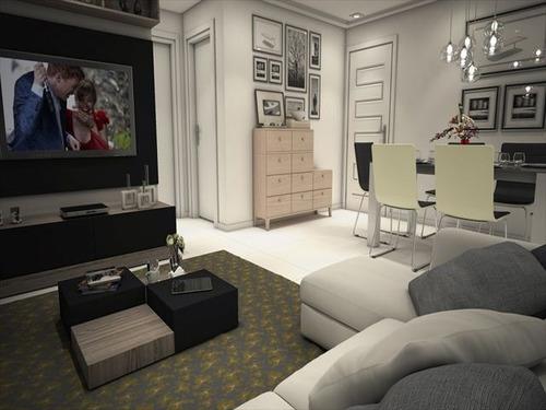 ref.: 1186 - apartamento em praia grande, no bairro aviacao - 2 dormitórios