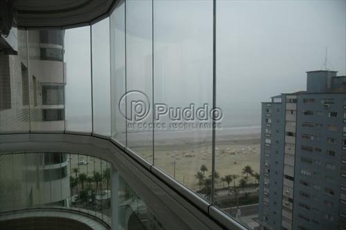 ref.: 1190 - apartamento em praia grande, no bairro canto do forte - 2 dormitórios
