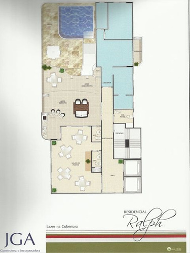 ref.: 1253 - apartamento em praia grande, no bairro guilhermina - 2 dormitórios