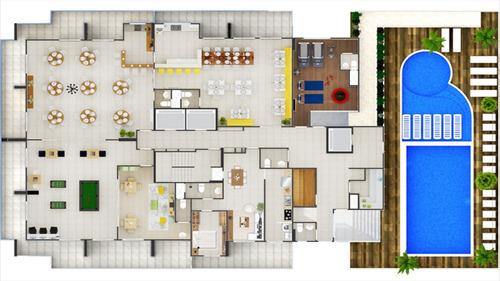 ref.: 1257 - apartamento em praia grande, no bairro campo aviacao - 2 dormitórios