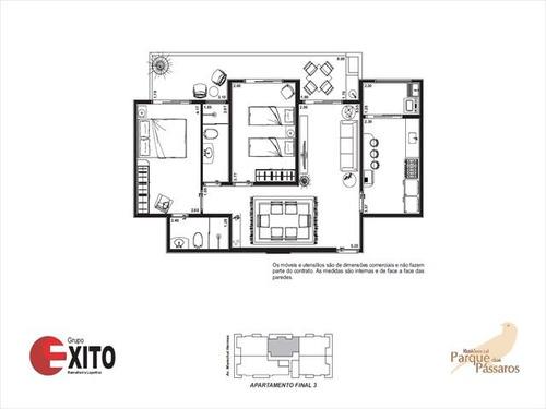 ref.: 1287 - apartamento em praia grande, no bairro canto do forte - 2 dormitórios