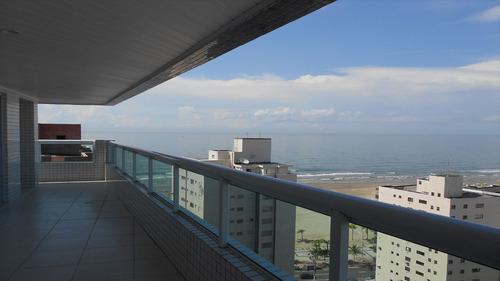 ref.: 1295 - apartamento em praia grande, no bairro vila guilhermina - 3 dormitórios