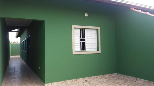 ref.: 1300 - casa em itanhaém, no bairro jardim magalhaes - 2 dormitórios