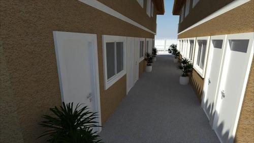 ref.: 1301 - casa condomínio fechado em praia grande, no bairro balneario esmeralda - 2 dormitórios