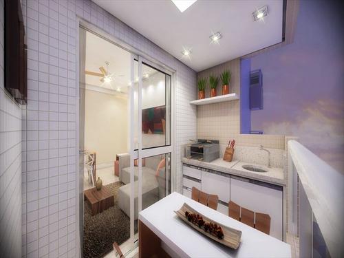ref.: 1342 - apartamento em praia grande, no bairro guilhermina - 2 dormitórios