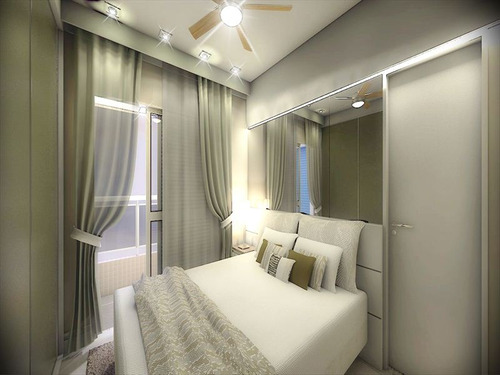 ref.: 1344 - apartamento em praia grande, no bairro guilhermina - 2 dormitórios