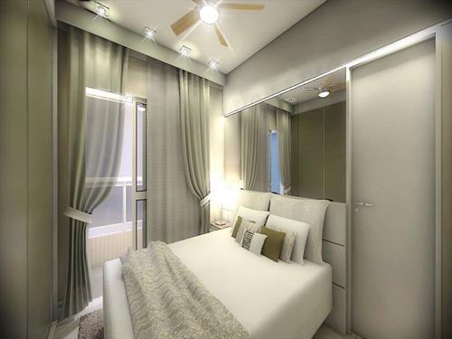 ref.: 1346 - apartamento em praia grande, no bairro guilhermina - 2 dormitórios