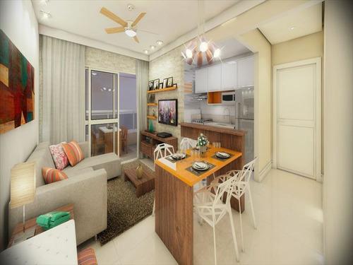 ref.: 1348 - apartamento em praia grande, no bairro guilhermina - 2 dormitórios
