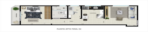 ref.: 1351 - apartamento em praia grande, no bairro jardim real - 1 dormitórios
