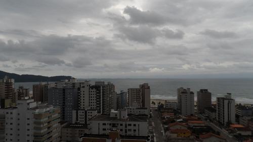 ref.: 1357 - apartamento em praia grande, no bairro vila guilhermina - 2 dormitórios