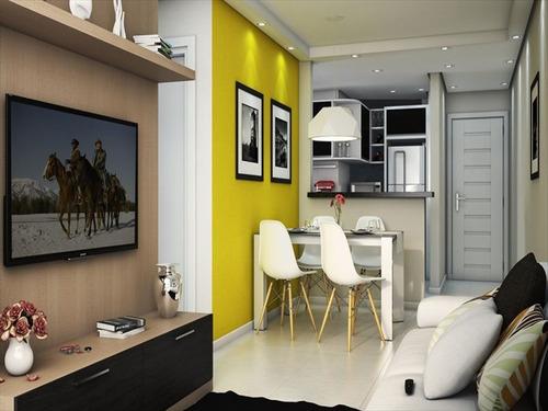 ref.: 1403 - apartamento em praia grande, no bairro aviacao - 2 dormitórios