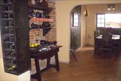 ref.: 141200 - casa em santos, no bairro gonzaga - 3 dormitórios