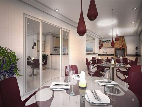 ref.: 1424 - apartamento em praia grande, no bairro canto do forte - 2 dormitórios