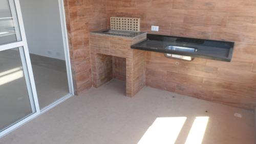 ref.: 1424 - casa condomínio fechado em praia grande, no bairro vila guilhermina - 2 dormitórios