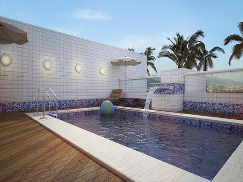 ref.: 1428 - apartamento em praia grande, no bairro canto do forte - 2 dormitórios