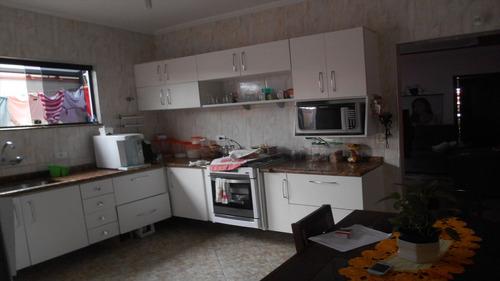 ref.: 14300 - casa em praia grande, no bairro vila guilhermina - 3 dormitórios