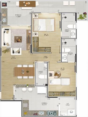 ref.: 1430600 - apartamento em praia grande, no bairro canto do forte - 2 dormitórios