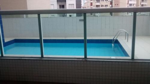 ref.: 1433 - apartamento em praia grande, no bairro vila guilhermina - 2 dormitórios