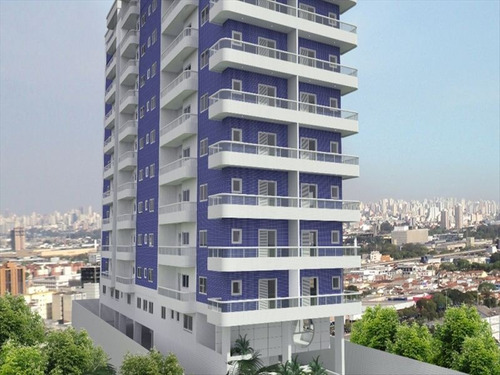 ref.: 1435 - apartamento em praia grande, no bairro canto do forte - 2 dormitórios