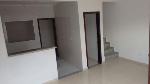 ref.: 1439 - casa condomínio fechado em praia grande, no bairro tude bastos - 2 dormitórios