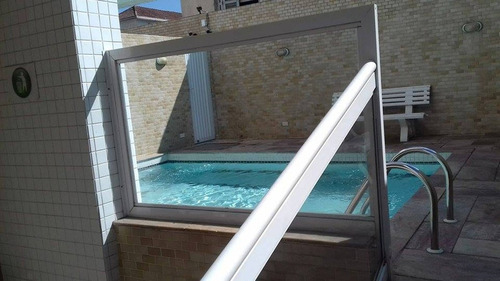 ref.: 1454 - apartamento em santos, no bairro estuario - 2 dormitórios