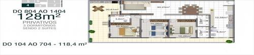 ref.: 1470 - apartamento em praia grande, no bairro canto do forte - 3 dormitórios