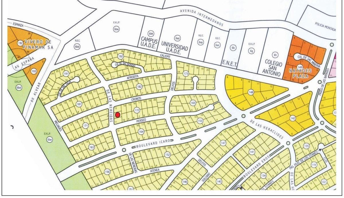 ref: 1501 - lote en venta - pinamar, zona nayades