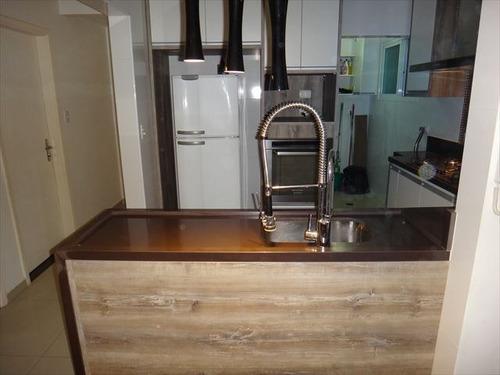 ref.: 152051700 - apartamento em praia grande, no bairro boqueirao - 2 dormitórios