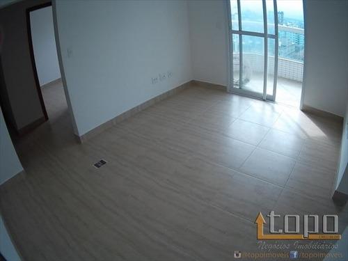 ref.: 1563 - apartamento em praia grande, no bairro caicara - 2 dormitórios