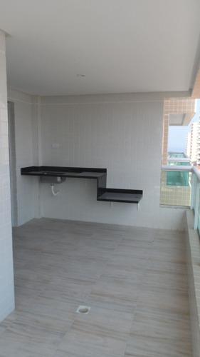 ref.: 1586 - apartamento em praia grande, no bairro canto do forte - 2 dormitórios