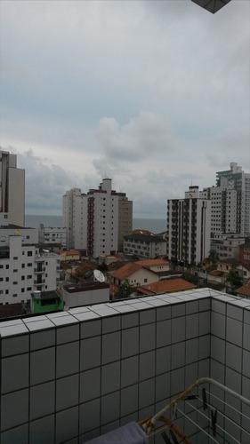 ref.: 1617 - apartamento em praia grande, no bairro vila guilhermina - 2 dormitórios