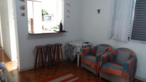ref.: 1626 - apartamento em praia grande, no bairro vila guilhermina - 1 dormitórios