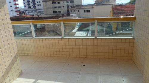 ref.: 1640 - apartamento em praia grande, no bairro vila tupi - 2 dormitórios
