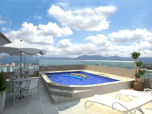ref.: 1655 - apartamento em praia grande, no bairro ocian - 2 dormitórios