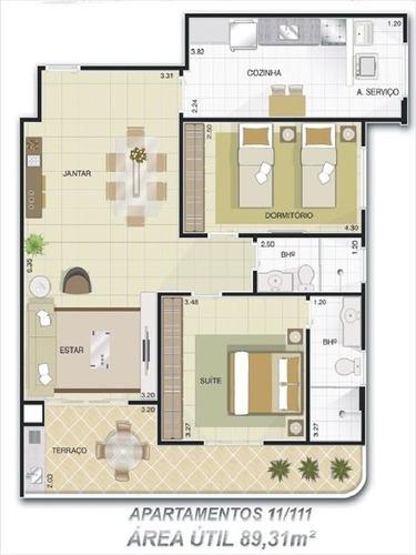 ref.: 1815 - apartamento em praia grande, no bairro aviacao - 2 dormitórios