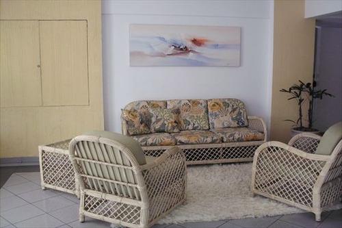 ref.: 1850 - apartamento em praia grande, no bairro guilhermina - 2 dormitórios
